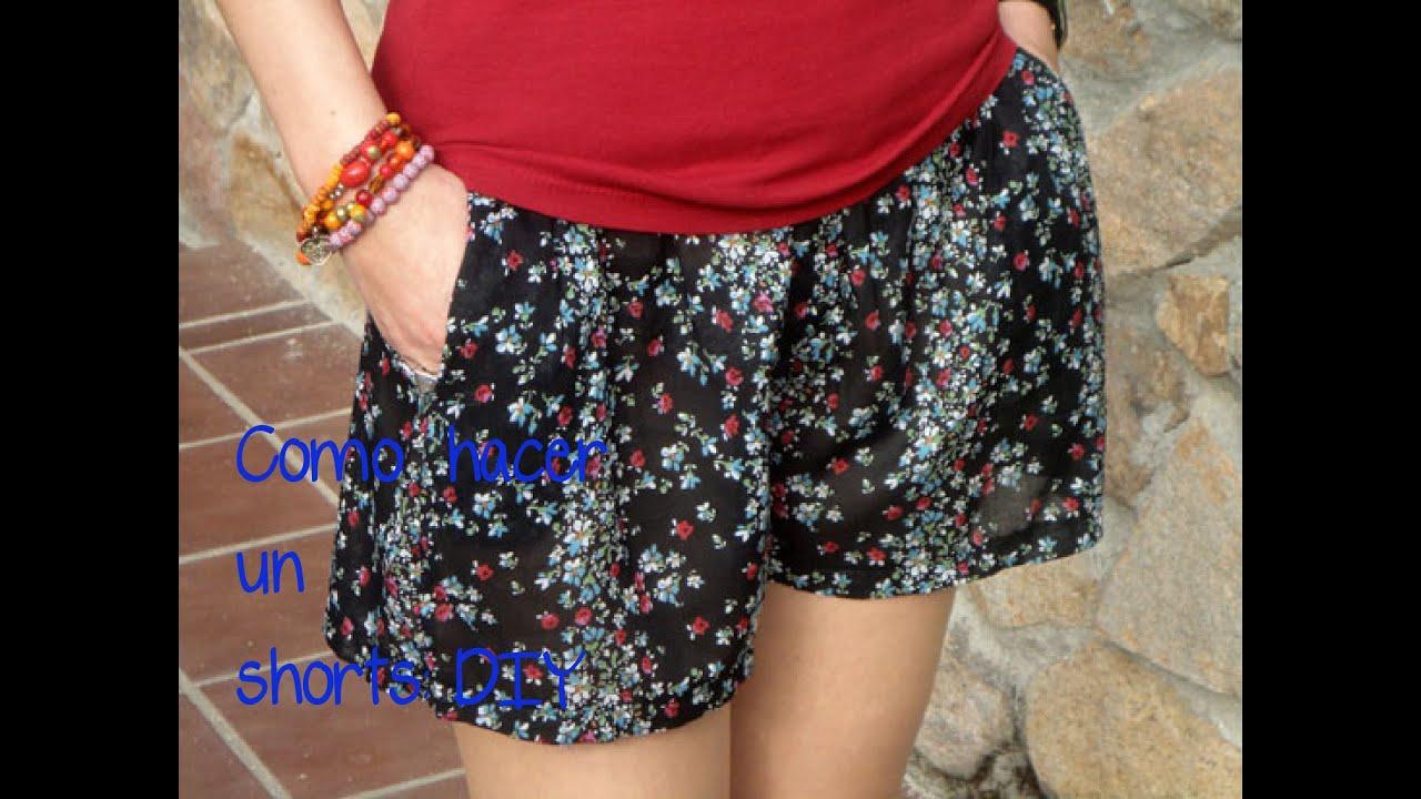 24357df2ef Como hacer un shorts  (Patrón o moldes gratis). Hazlo tu misma. Diy ...