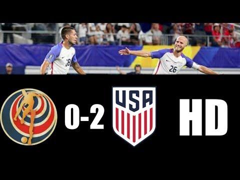 Costa Rica vs Estados Unidos 0-2 RESUMEN GOLES 2017 HD