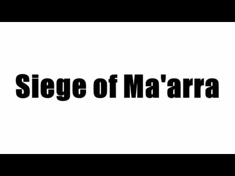 Siege of Ma'arra
