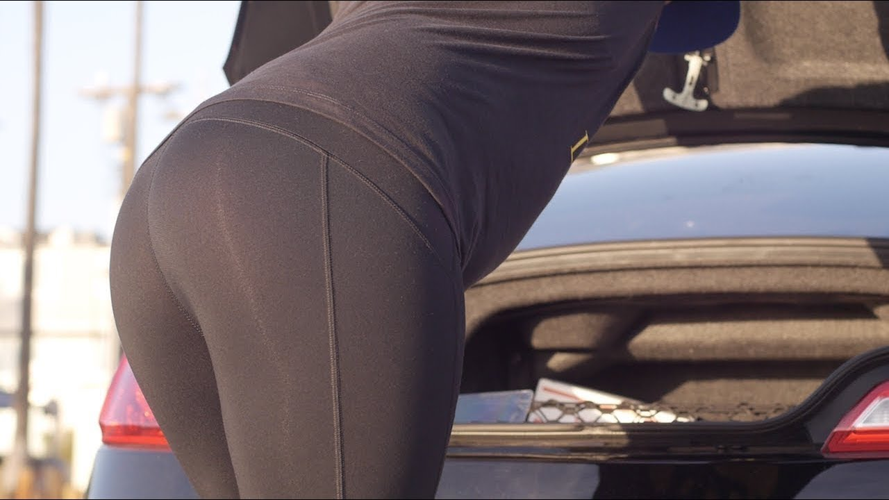 Touching mature megabooty leggins 2