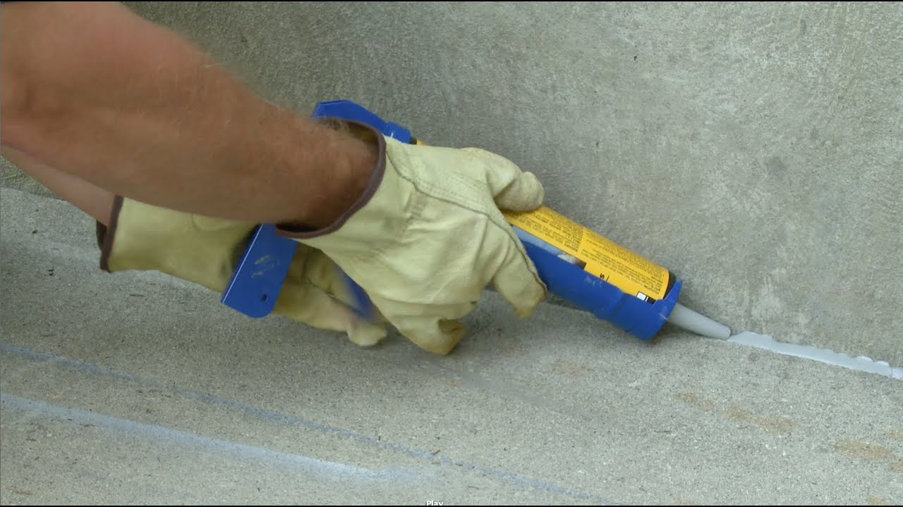 How To Repair Amp Seal Expansion Joints In Concrete Youtube