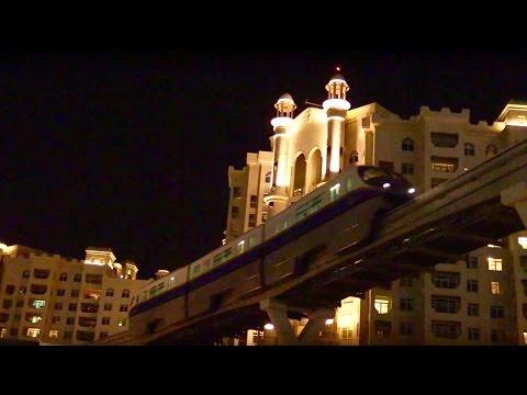 Dubai Monorail at night
