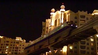 Dubai Monorail at night
