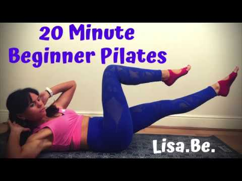 20 minute beginner pilates full body home workout  youtube