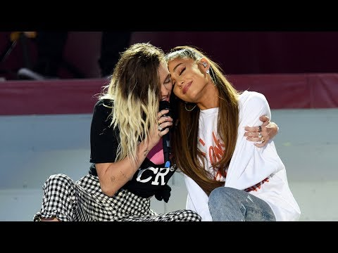 Miley Cyrus & Ariana Grande Reunite For BEAUTIFUL