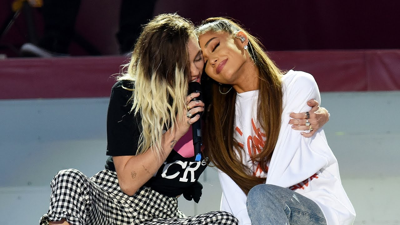 Miley Cyrus & Ariana Grande ile ilgili görsel sonucu