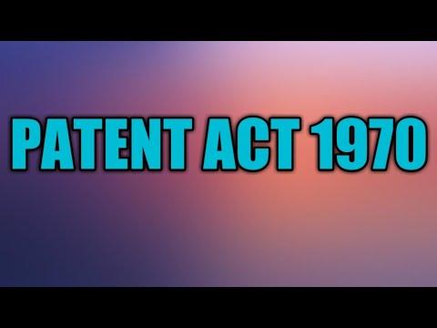 PATENT ACT 1970