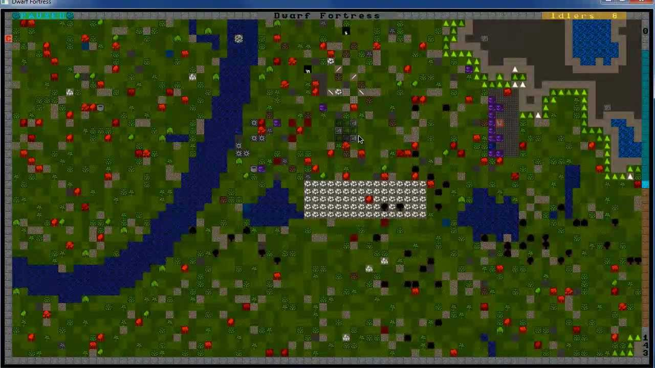 how to start dwarf fortress