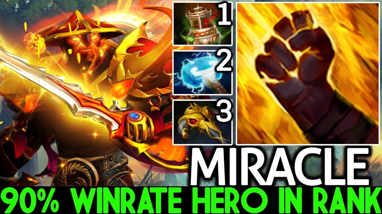 MIRACLE [Ember Spirit] 90% Winrate Hero in Ranked First Item Spirit Vessel 7.22 Dota 2