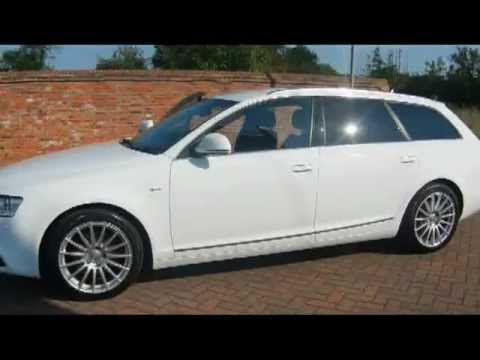 2009 audi a6 avant s line 2 0tdie white for sale in hampshire youtube. Black Bedroom Furniture Sets. Home Design Ideas