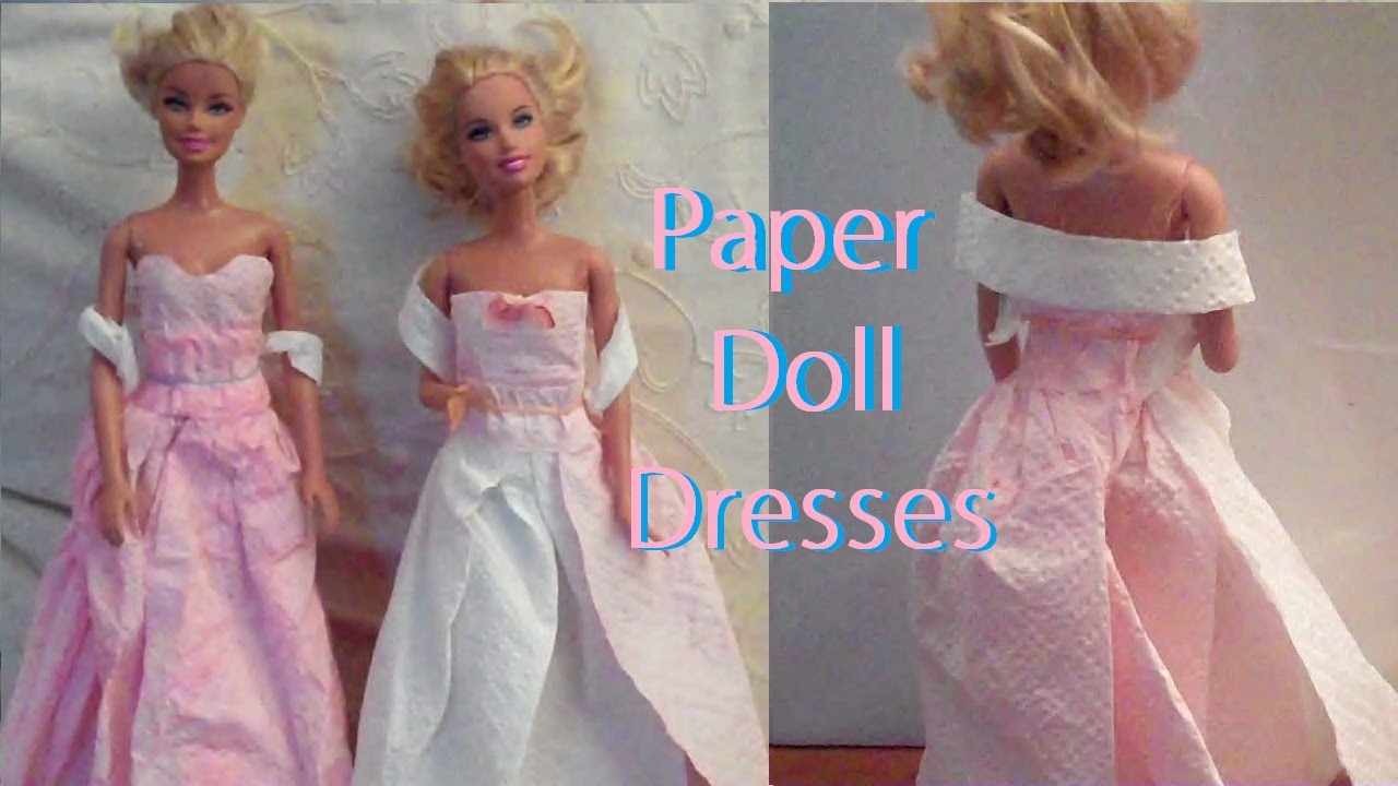 How To Make Mini Paper Dress Easy Paper Craft Youtube