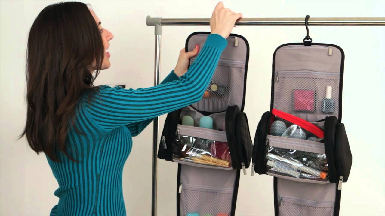 Travelon Hanging Toiletry Kit Style 82730 - YouTube 60f5a664cf476