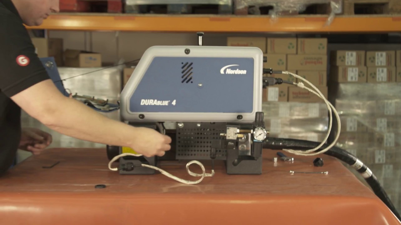 Nordson DuraBlue Hot Melt Adhesive Gluing Systems