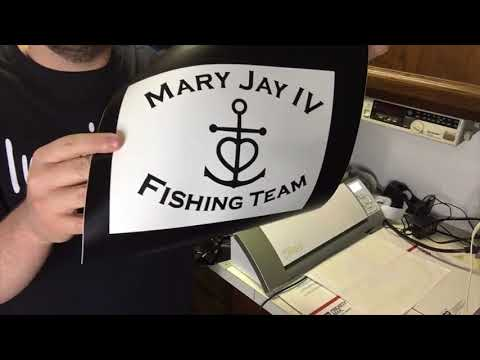 Making Vinyl Decals For Fishing Team