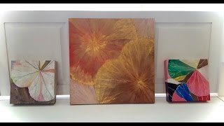 Miyuki's Himapan Lotus Leaf Painting