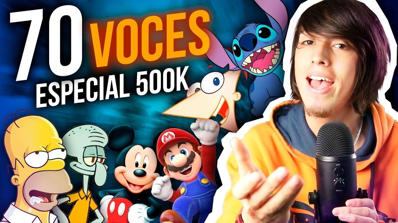Download IMITANDO 70 VOCES DE CARICATURAS Y PERSONAJES - ESPECIAL 500K SUSCRIPTORES