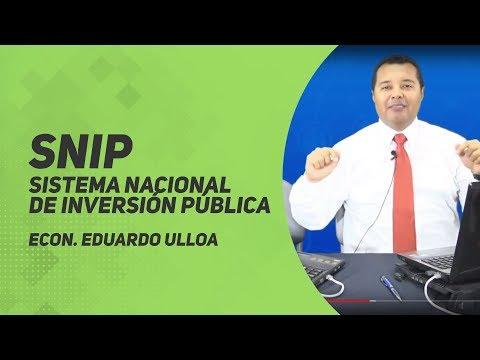 SNIP - Sistema Nacional de Inversión Pública