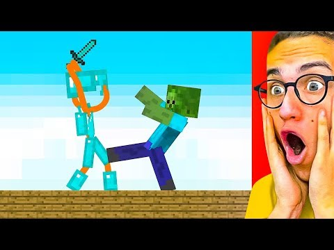 Reacting To THE BEST STICK FIGHT MINECRAFT ANIMATIONS!