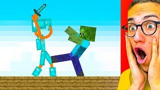 Download Reacting To THE BEST STICK FIGHT MINECRAFT ANIMATIONS! Mp3 and Videos