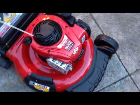 Troy-bilt TB110 unboxing and quick review! ($200 push mower)