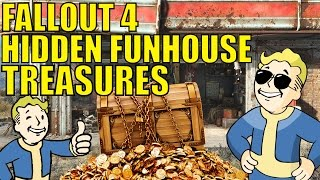 Fallout 4 Secret Locations & Treasures - Milton General Hospital Parking Lot Funhouse