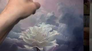 The sky with clouds. Part  2. Rose-traveler