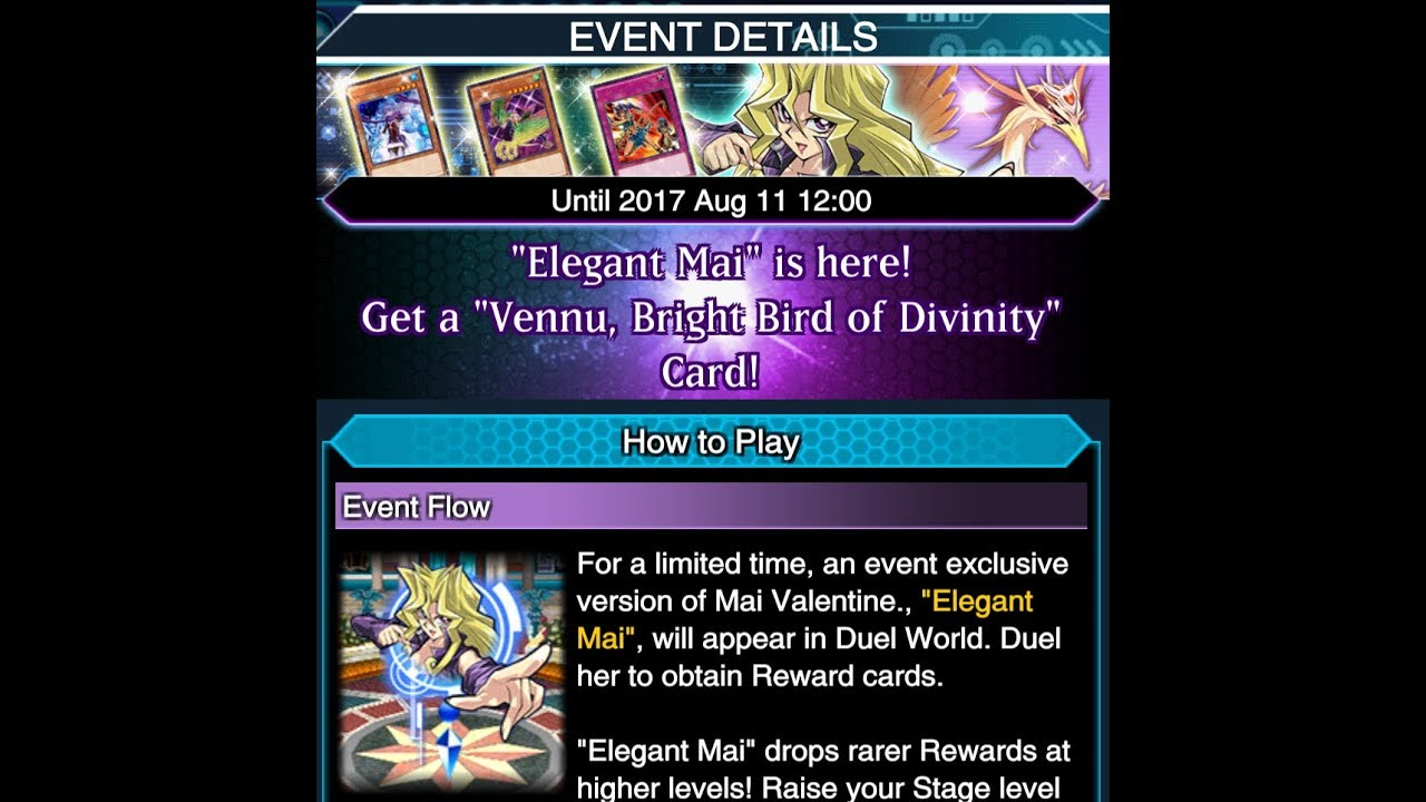 yu gi oh duel links event start vs lvl40 elegant mai youtube
