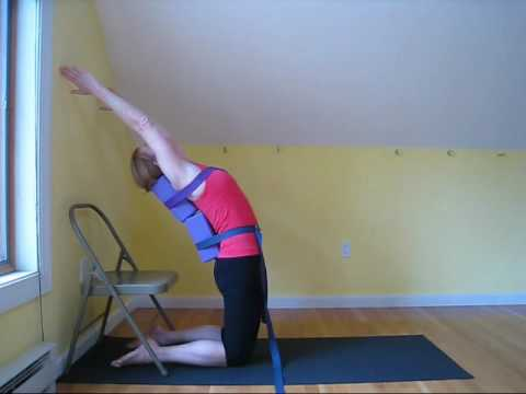 Jetpack Yoga - Kapotasana variation with blocks & straps ...