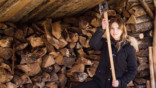 my-1-bushcraft-survival-skill-my-wife-daughter-split-firewood