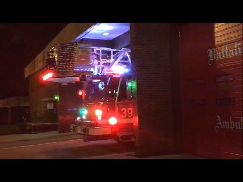 Chicago IL Fire Department Tower Ladder Co. 39 Responding