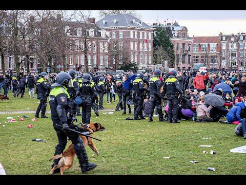 Schoonvegen Museumplein Amsterdam, demonstratie loopt uit de hand