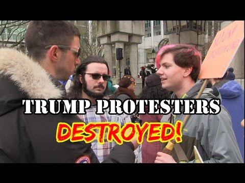 Squatting Slav TV vs. Trump Protesters