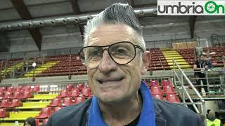Volley, Perugia- Modena: show di Lucchetta a fine partita, che parla anche di Bernardi e Velasco