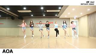 AOA (에이오에이) - Luv Me (날 사랑해) | Dance Practice Mirrored (춤 연습…