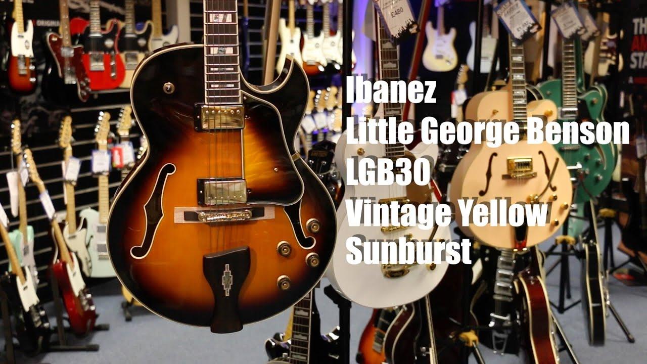 ibanez lgb30 little george benson guitar demo vintage yellow