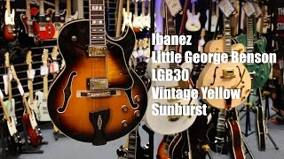 Ibanez LGB30 Little George Benson Guitar Demo - Vintage Yellow Sunburst