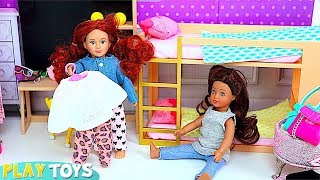 Play Mini Dollhouse Furniture for Baby Doll Study, Kitchen & Bunk Bed Room Toys!