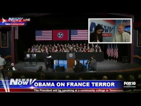 Manhunt in France for suspects, Obama announcement, Maupin interview