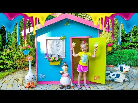 Funny Stacy coloring playhouse