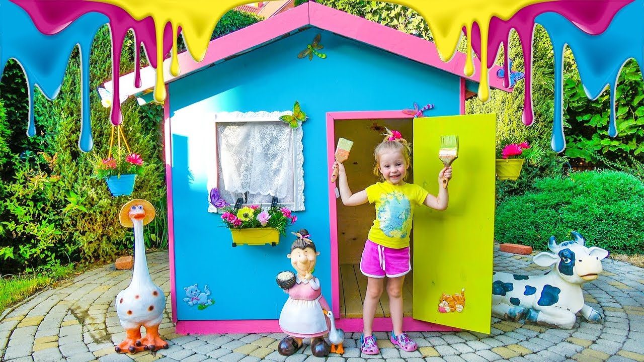 Funny Stacy coloring playhouse - YouTube