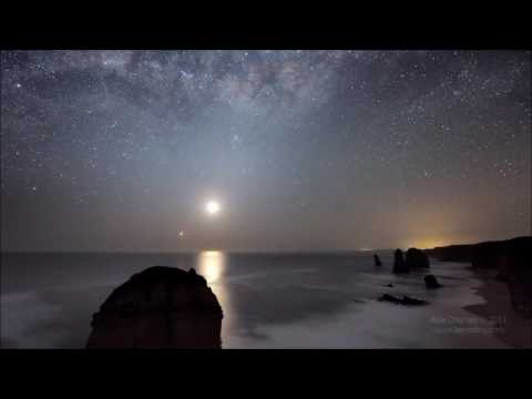 Beautiful NightTime Earth Scenes  & Music With Eckhart Tolle - What Are We ?