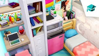 🎓TINY CLUTTERED DORM ROOM // Sims 4 Speed Build (DISCOVER UNIVERSITY)