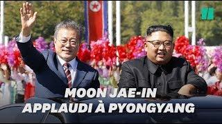 Kim Jong Un et Moon Jae-in, son homologue sud-coréen, défilent à Pyongyang sous les acclamations