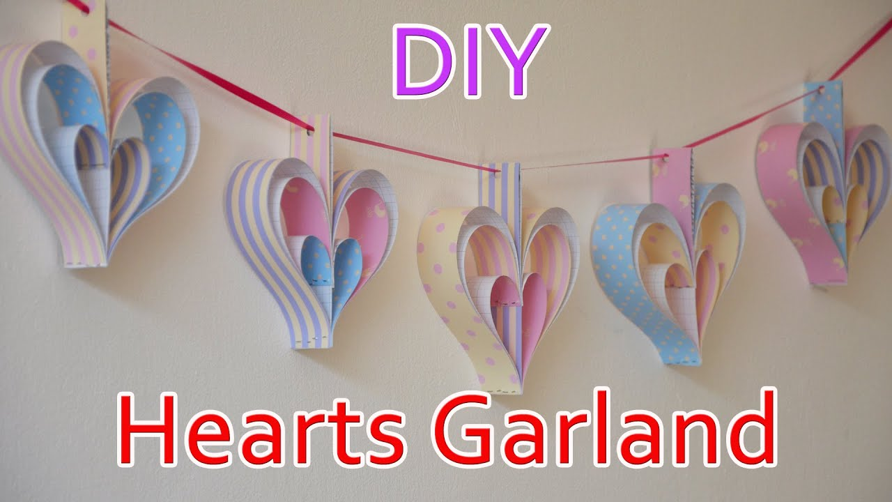 DIY Crafts Hearts Garland