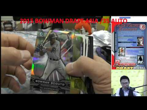 KAZUTOKYO MLB 2015 BOWMAN DRAFT JUMBO ASIA PERSONAL BREAKS #choa80 2015/12/12