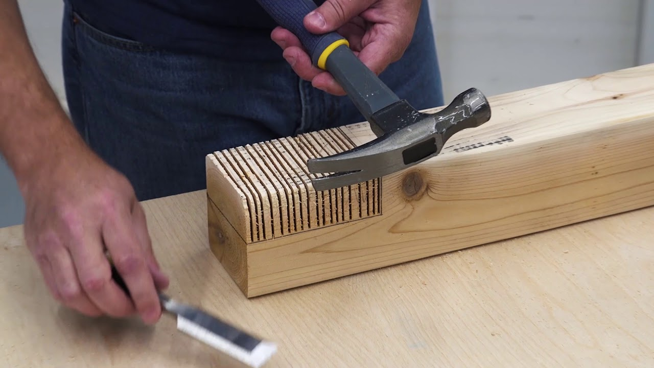 How To Cut A Wide Notch Using Simple Tools You