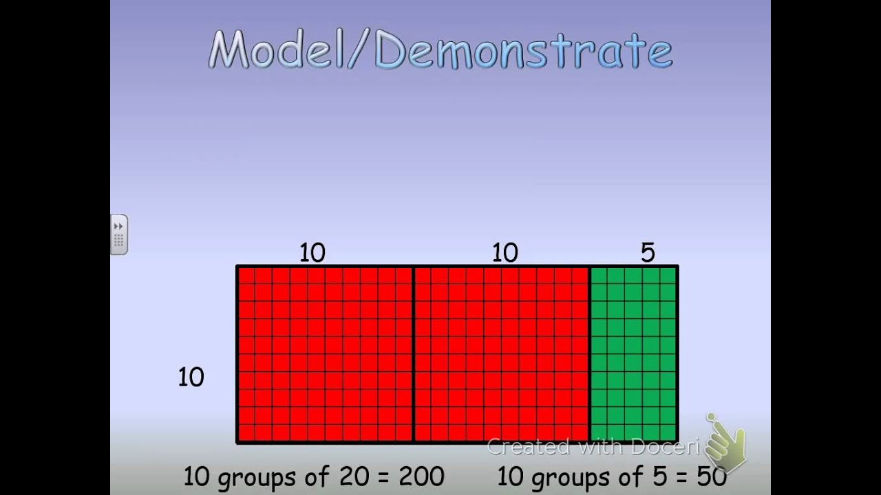 71 Arrays And Multiplying 2 Digit Numbers By Multiples Of 10 Youtube