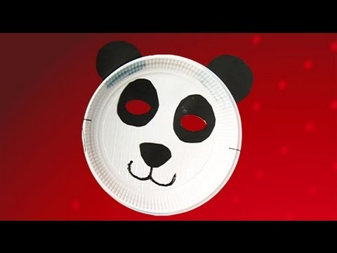 Panda mask crafts. Ideas to fancy dress custome for kids & Panda mask crafts. Ideas to fancy dress custome for kids - YouTube