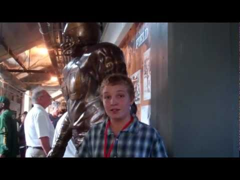 Harrison with the Chuck Bednarik statue!