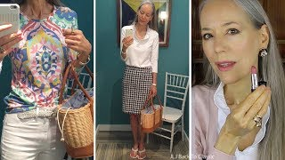 Style Over 50: J.McLaughlin Try On-Haul; Gingham Shirt, Jeans OOTD;  DIY Face Mist / Classic Fashion